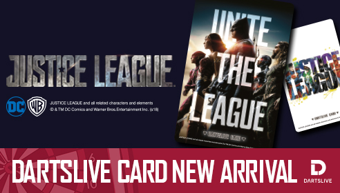JUSTICE LEAGUE DARTSLIVE CARD