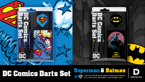 DC Comics Darts Set Superman & Batman