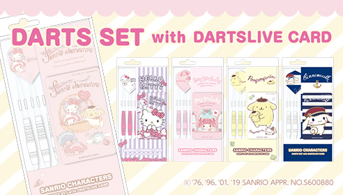 Sanrio Characters Darts Set with DARTSLIVE CARD