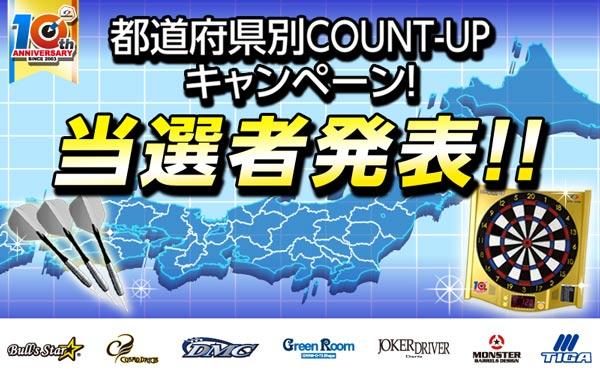 都道府県別COUNT-UPキャンペーン
