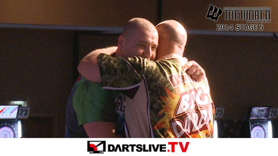 THE WORLD 2014 STAGE 5決勝戦を配信!【DARTSLIVE.TV】