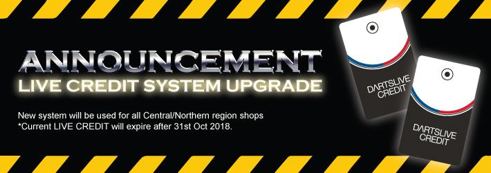 LIVE CREDIT system upgrade