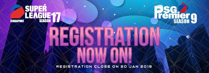 SUPER LEAGUE SEASON 17 & SG Premier SEASON 9 - Registration Open!