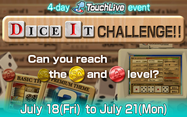 TouchLive DICE IT CHALLENGE