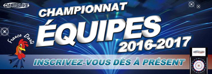 Début des inscriptions au championnat équipes France Darts!