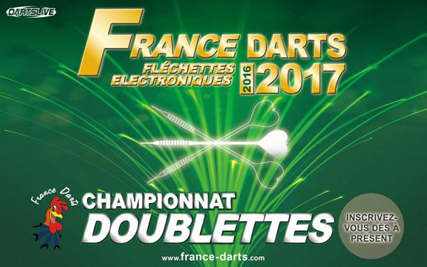Début des inscriptions pour les doublettes France Darts