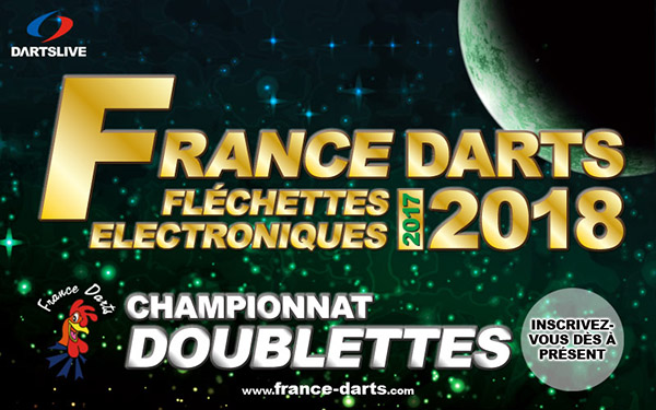 Inscriptions championnat Doublettes France Darts