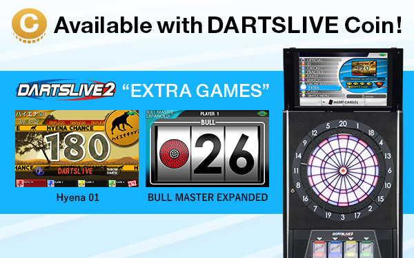 Available with DARTSLIVE Coins!