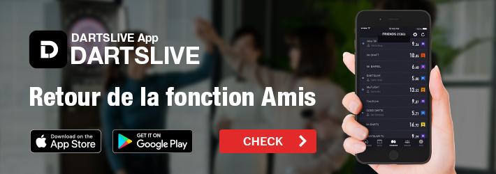 La fonction Amis fait son retour sur l'Appli DARTSLIVE!