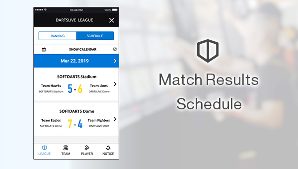 The App for League info! DARTSLIVE SPORTS Launched