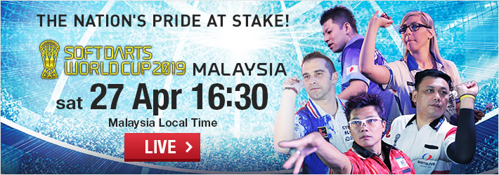 【LIVE】Set for Sat 27 Apr! Watch SOFT DARTS WORLD CUP 2019