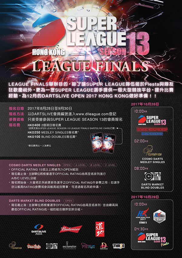 SUPER LEAGUE SEASON 13 LEAGUE FINALS POSTER