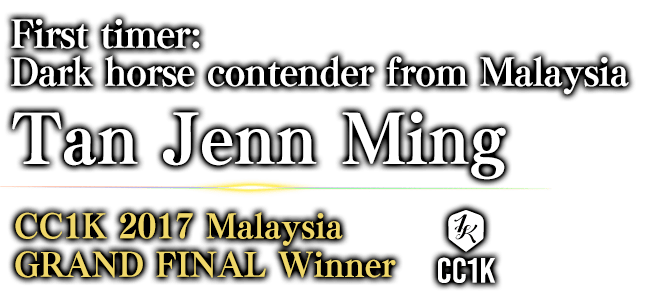 First timer: Dark horse contender from Malaysia Tan Jenn Ming CC1K 2017 Malaysia GRAND FINAL / Winner